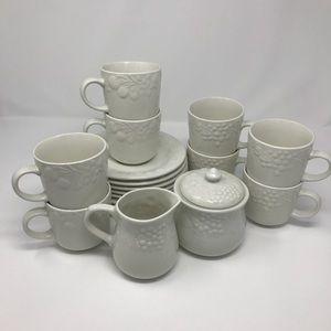 Farberware Blanc Sur Blanc 19 piece Tea Coffee Set